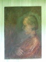 Ábrahám István- portré- olaj / farost  festmény