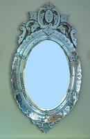 Neobarokk velencei (muránói) fali tükör