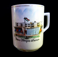 Nagyon ritka Zsolnay Pécs Olimpia étterem csésze gyűjtőknek!
