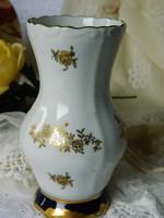 Weimar porcelán váza, echt kobalt-arany, 1924-ből