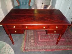 Mahagóni fiókos íróasztal