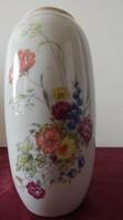 Porcelán váza hollóházi