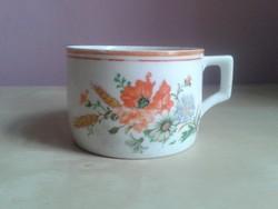 Zsolnay virágos csésze.
