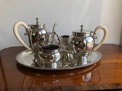 Antik Ezüst Teás Kávéskészlet 2700g