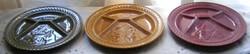 Három Sarreguemines fondue-tányér