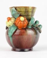 0T286 Kisméretű Komlós kerámia váza 9 cm