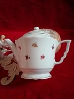 Manó füles Zsolnay porcelán teás kanna