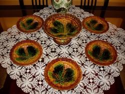 Villeroy & Boch majolika süteményes, tortás készlet