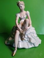 Wallendorf porcelán balerina eredeti jelzett hibátlan