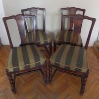 4 db régi chippendale szék