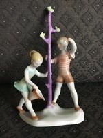 Art deco Herendi porcelán, faültetők