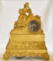 Kandalló óra bronz aranyozott