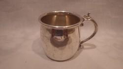 Gyönyörű vastagon ezüstözött füles pohár