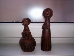 2 régi kerámia figura