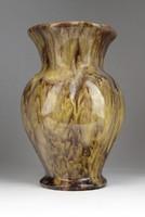 0T285 Folyatott mázas art deco kerámia váza 22 cm