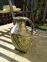 Gorka jellegű, iparművész kerámia padló váza!
