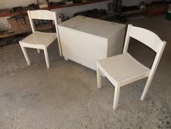 Népi láda / pad + 2 db szék