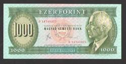 "1000 forint 1993. ""D"".  EF+++!!  RITKA!!"