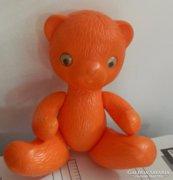 Retro műanyag szovjet mackó - narancssárga maci