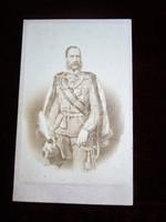 1867 Ferenc József császár király eredeti CVD FOTÓ FÉNYKÉP HABSBURG OSZTRÁK MAGYAR MONARCHIA