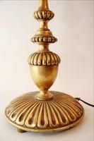Aranyozott  lámpa ernyővel  72 cm asztali fa