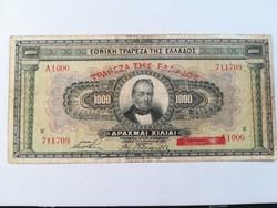 1926-os 1000 Drachma EF/VF+++