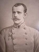 Eredeti NAGY KEMÉNYHÁTÚ EMLÉKLAP RUDOLF trónörökös KUK 1889 KORONA HERCEG HABSBURG