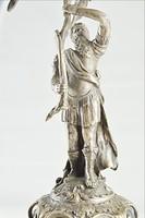 Ezüst tál római katona alakkal 800