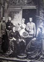 FERENC JÓZSEK ERZSÉBET KIRÁLYNÉ SZISZI BELGA KIRÁLY KIRÁLYNÉ RUDOLF STEFÁNIA KEMÉNYHÁTÚ FOTÓ 1881