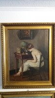 Fiatal Leány - Alkotó : Pán Arthúr ( 1894 - 1983 ) - Az Angol királyi család festője volt
