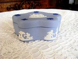 Wedgwood hibátlan porcelán, jelenetes cukordoboz, bonbonier, akár ajándékba is
