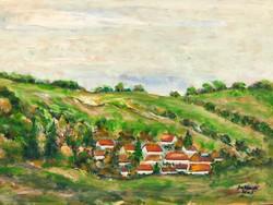 Sziklai Károly Mogyorósbánya tájkép