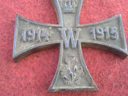1 világháborús vaskereszt levélnehezék öntöttvas