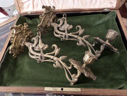 Szecessziós antik falikar pár