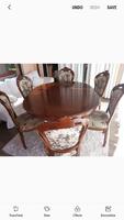 Elegáns olasz Sleva étkező garnitúra asztal 6 székkel