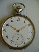 Extrém ritka MEDAILLE D,OR GENEVE  1896  HAJÓS ZSEBÓRA 52 MM EZÜST