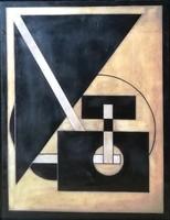 KASSÁK vagy MOHOLY-NAGY ?? - FESTMÉNY 51 x 40,5 cm, jn.