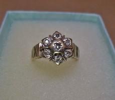 Codálatos antik arany margaréta gyűrű gyémántokkal