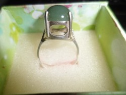 Dán ezüst gyűrű / jade