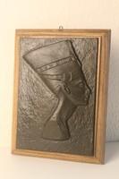 Nefertiti öntött vas falifej, falimaszk, falikép, szobor