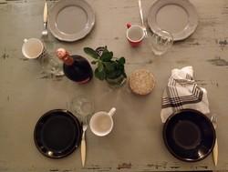 Vintige Chalk Paint Stílusú étkező asztal és székek