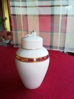 Herendi rózsafogós fedeles váza