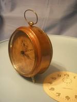 U9 Antik bronz tam-tam 3 hangzású csörgő óra ritkaság