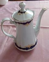 Német porcelán tea kiöntő, kanna, 19,5 cm magas
