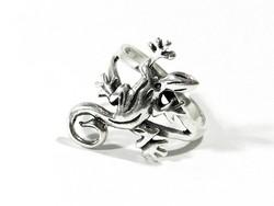 Ezüst gekkós gyűrű(Kecs-Ag72294)