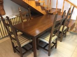 Étkezőasztal 4 darab székkel (felújított)