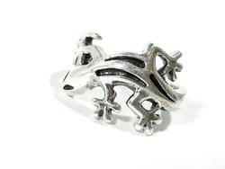 Ezüst gekkós gyűrű(Kecs-Ag72278)
