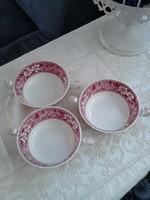 3 db Angol Copeland fajansz leveses csésze