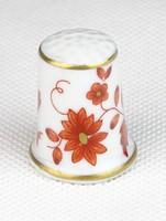 0T366 Hollóházi porcelán gyűszű SC/B