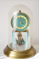 Kandalló óra kék zománc számlap üvegburával fedve